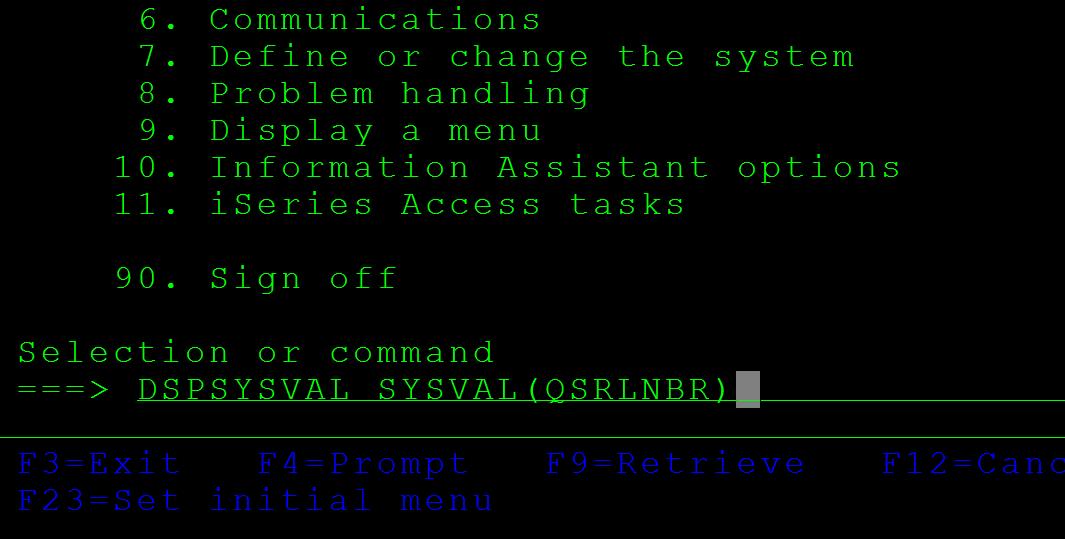 DSPSYSVAL – ibmi400